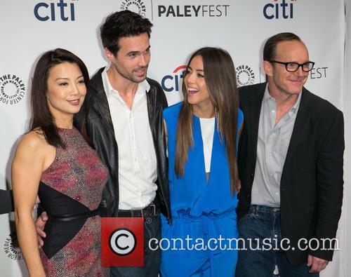 Ming-na Wen, Brett Dalton, Chloe Bennet and Clark Gregg 7