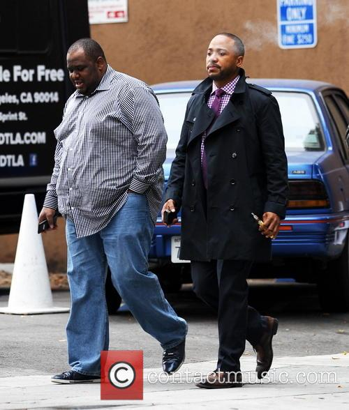 'Scandal' star Columbus Short spotted on set for the first time, following a police investigation over claims he broke a man's nose in a bar fight