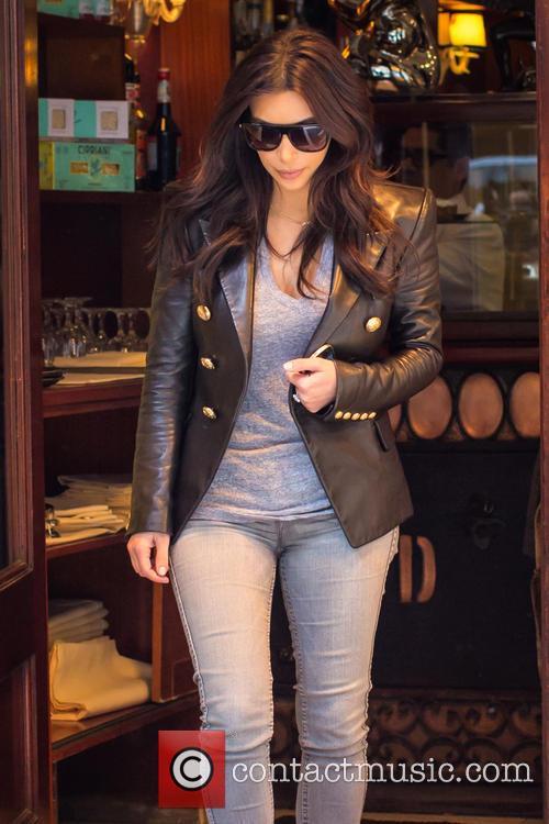 Kim Kardashian leaving Cipriani restaurant
