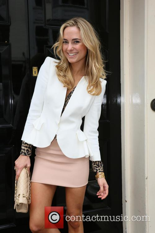 Kimberley Garner outside The Arts Club London