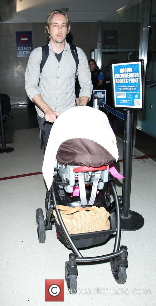 Kristen Bell and Dax Shepard at LAX