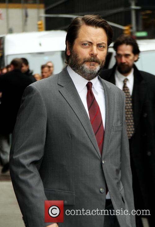 nick offerman late show with david letterman 4125617