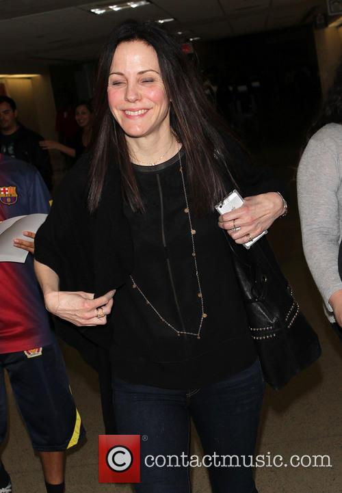 Mary-Louise Parker arrives at LAX