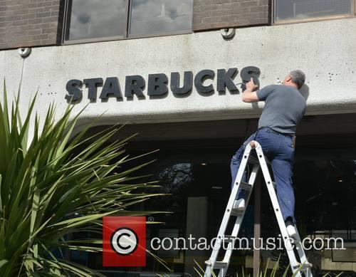 Starbucks Replaces Anglo Irish Bank Sign