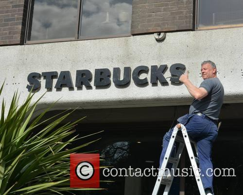 Starbucks Replaces Anglo Irish Bank Sign