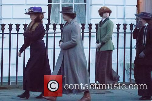 Film set for the upcoming movie 'Suffragette'