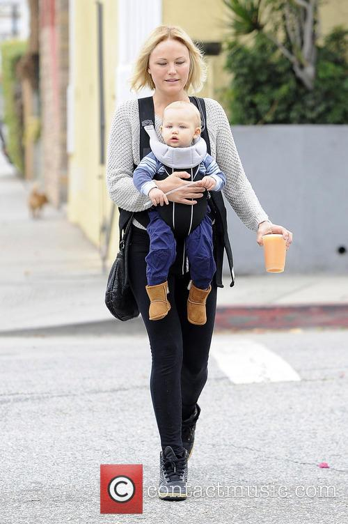 Malin Akerman out and about with son Sebastian