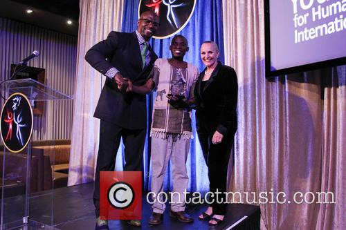 Terry Crews, Tonny Okello and Dr. Mary Shuttleworth 2