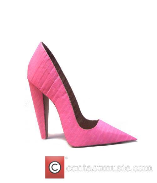 pink vertical stiletto cardboard kicks 4127368