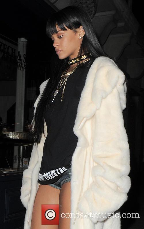 Rihanna Arriving At Tramp