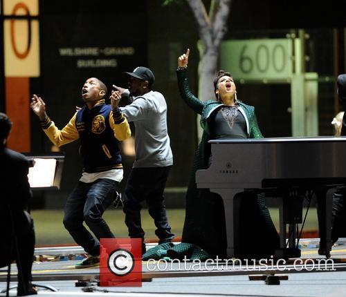 Alicia Keys, Pharrell Williams and Kendrick Lamar 4