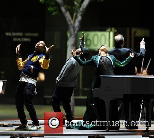 Alicia Keys, Pharrell Williams and Kendrick Lamar 7