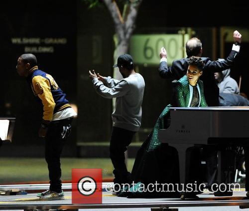 Alicia Keys, Pharrell Williams and Kendrick Lamar 8