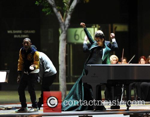 Alicia Keys, Pharrell Williams and Kendrick Lamar 10