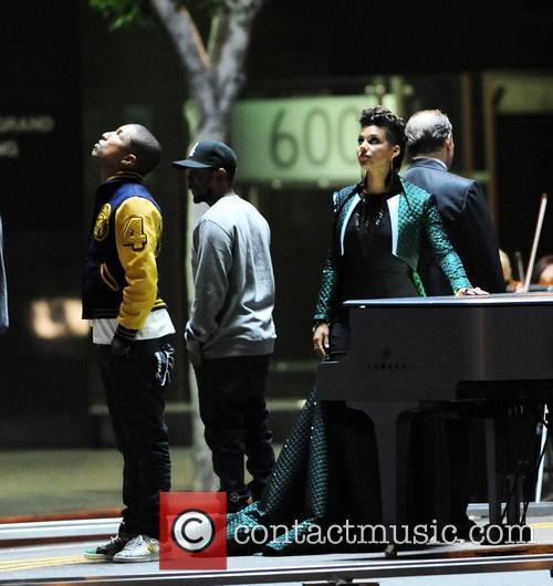 Alicia Keys, Pharrell Williams and Kendrick Lamar 11