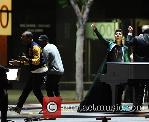alicia keys pharrell williams kendrick lamar alicia keys filming 4126237