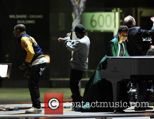 Alicia Keys, Pharrell Williams and Kendrick Lamar 16