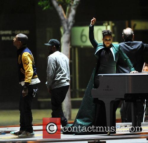 Alicia Keys, Pharrell Williams and Kendrick Lamar 18