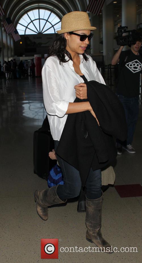 Rosario Dawson At LAX