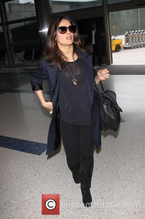 Salma Hayek, Los Angeles International Airport (LAX)