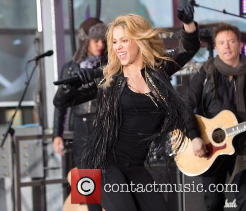 Shakira performing live on the 'Today' show