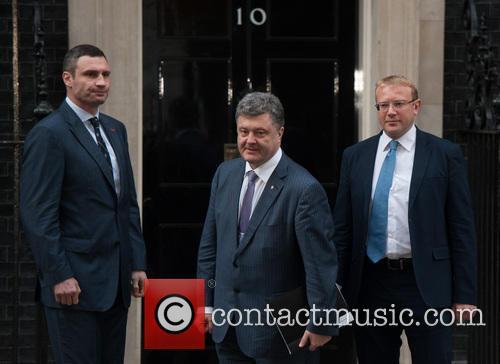 Vitali Klitschko, Petro Poroshenko and Andriy Shevchenko 3