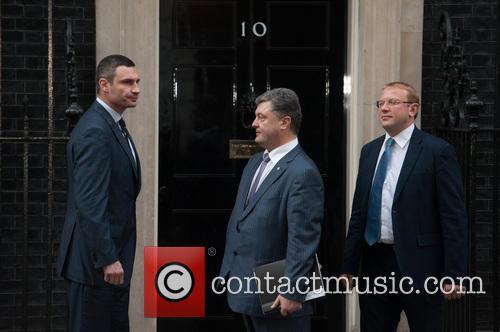 Vitali Klitschko, Petro Poroshenko and Andriy Shevchenko 6