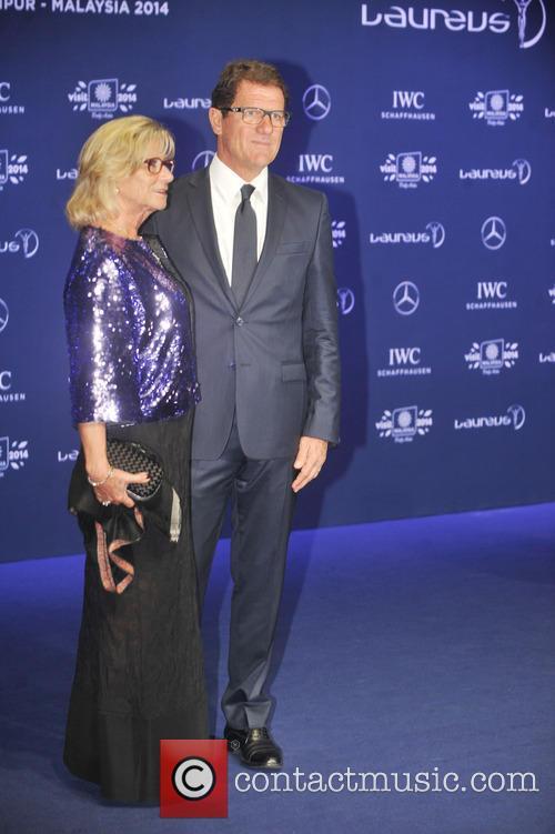 Fabio Capello and Laura Capello