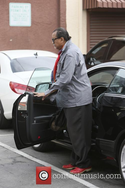 Billy Dee Williams arriving at rehearsals for 'Dancing...
