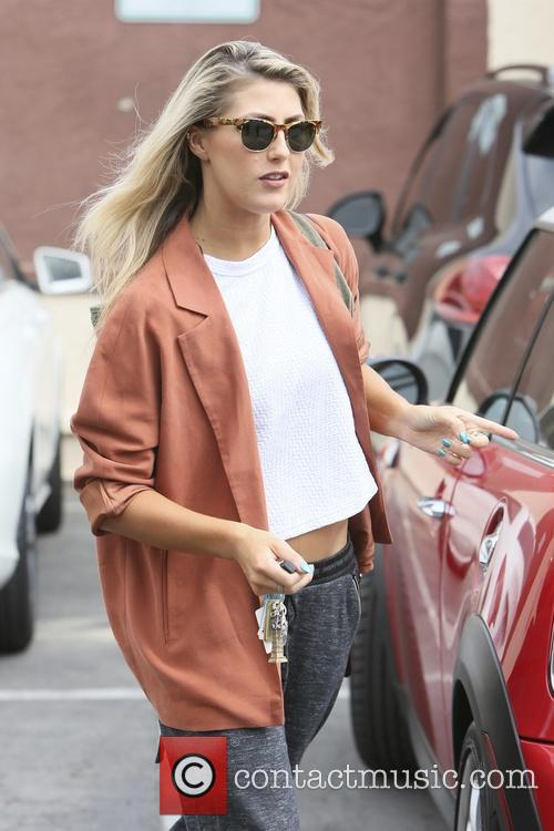 Emma Slater arriving at rehearsals for 'Dancing with...