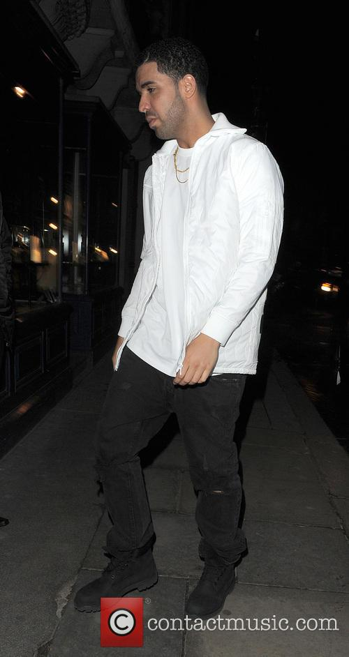 Rihanna and Drake arrive at Tramps private members...