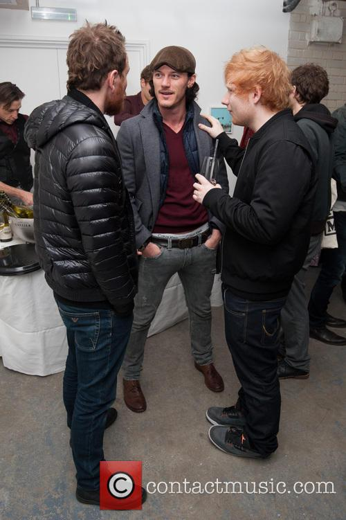 Michael Fassbender, Luke Evans and Ed Sheeran 1