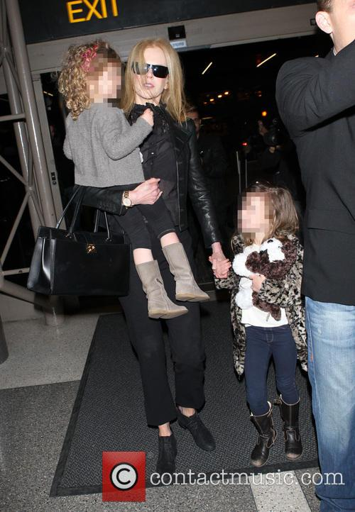 Nicole Kidman, Sunday Rose Kidman Urban and Faith Margaret Kidman Urban 3