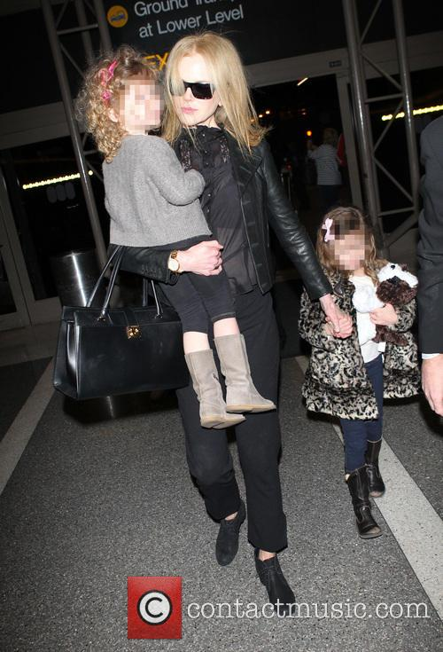 Nicole Kidman, Sunday Rose Kidman Urban and Faith Margaret Kidman Urban 1