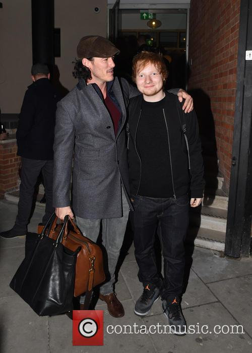Ed Sheeran and Luke Evans 5