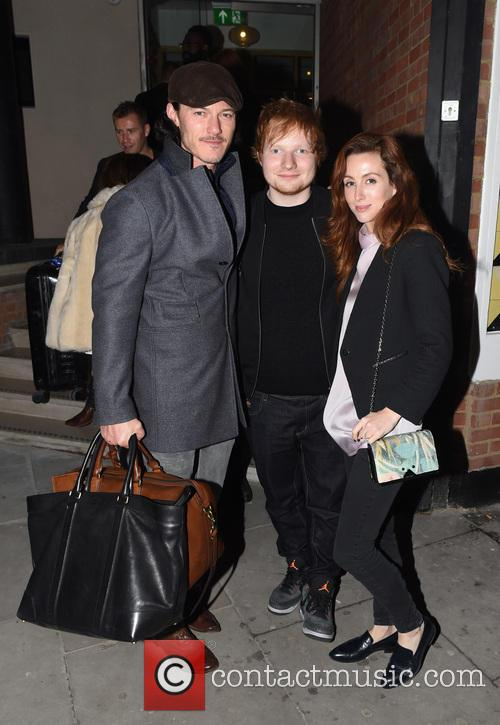 Ed Sheeran, Luke Evans and Siobhán Donaghy 2