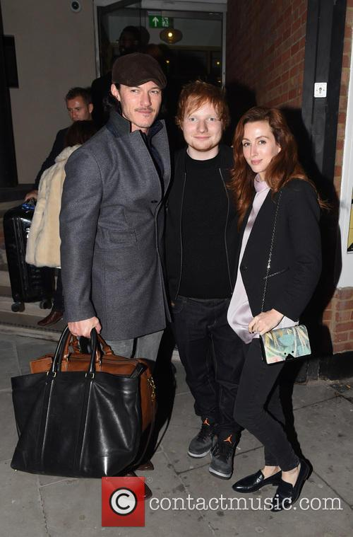 Ed Sheeran, Luke Evans and Siobhán Donaghy 7