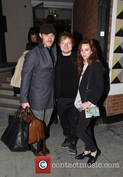 Ed Sheeran, Luke Evans and Siobhán Donaghy 1