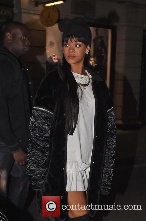 Rihanna and Drake seen leaving Novikov Restaurant
