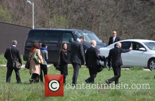 Angelina Jolie arrives at the Memorial Center in...