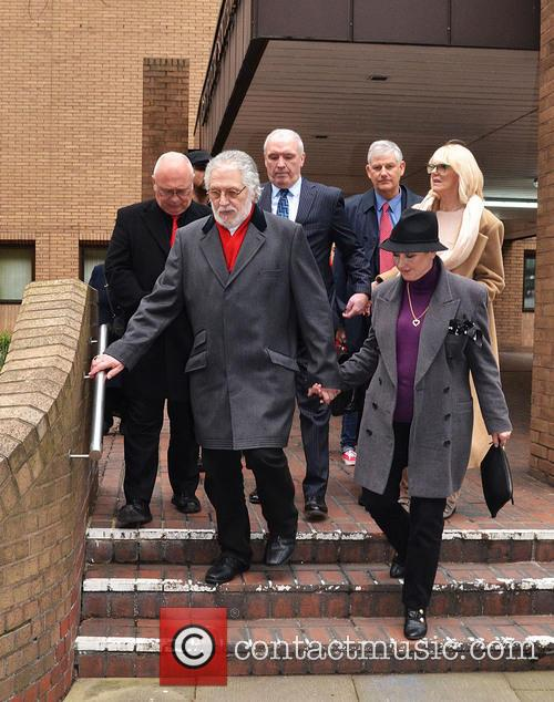 Dave Lee Travis departs court