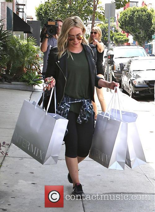 Hilary Duff shopping at Intermix