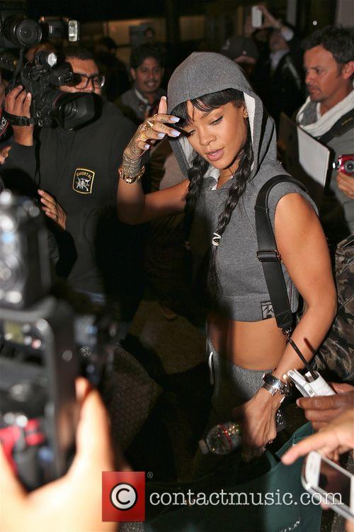 Rihanna arrives at LAX