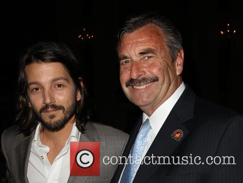 Diego Luna and Los Angeles Police Chief Charlie Beck 5
