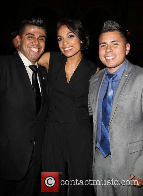 Mark Gonzalez, Rosario Dawson and Guest 2