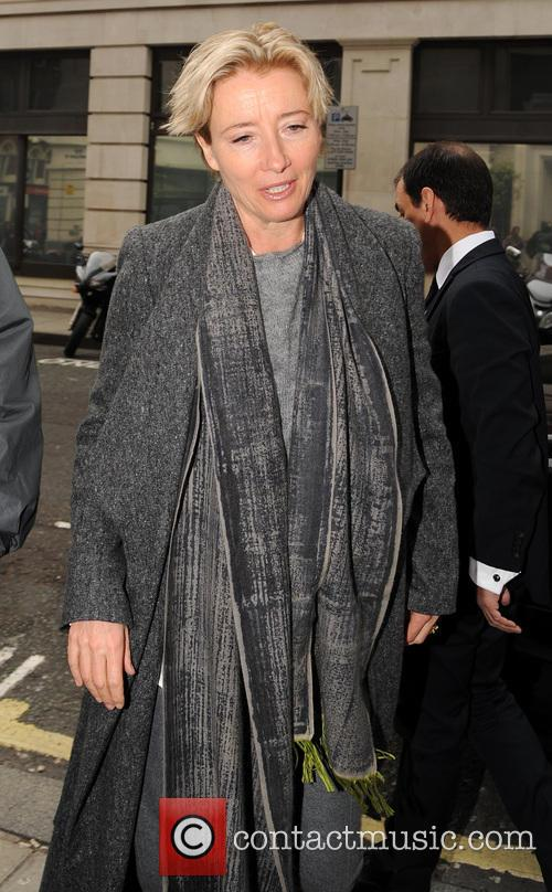 Emma Thompson arrives at Radio 2