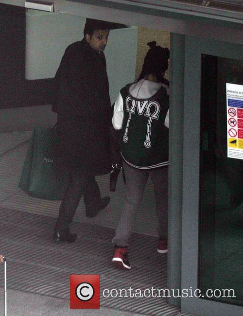 Rihanna at Heathrow