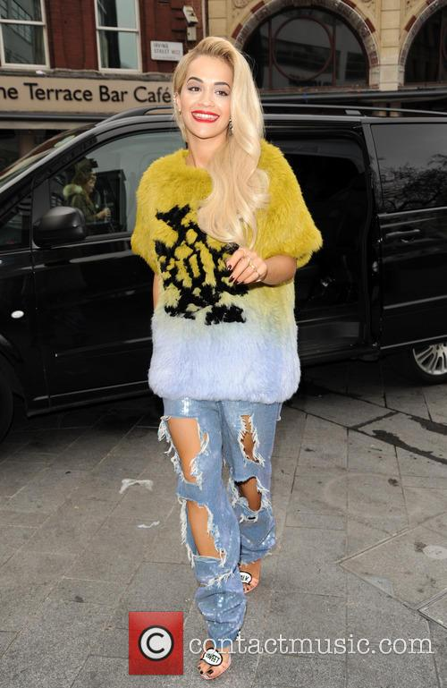 Rita Ora arrives at Global