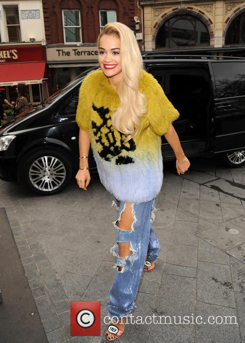 Rita Ora arrives at Global