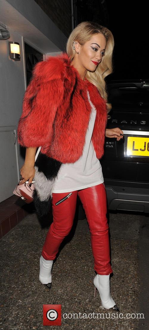 Rita Ora leaving her home